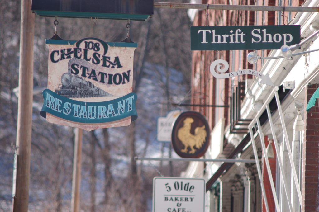 shop signs in South Royalton, Vermont