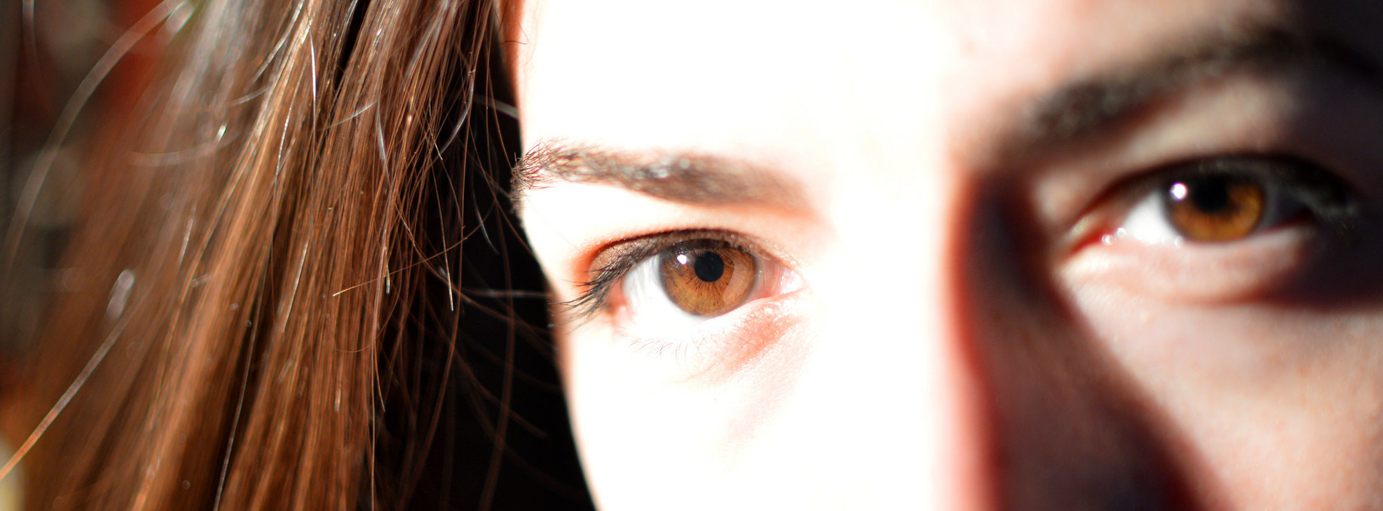 eyes of a woman in a letterbox frame