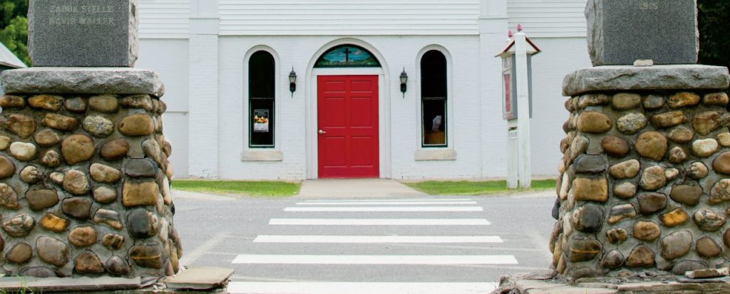 Red Door Church entrance